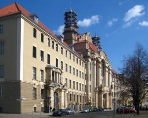 Facade of the Berlin Regional Court in Berlin-Mitte, Littenstraße 12-17, 10179 Berlin