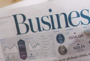 Newspaper on business and economics